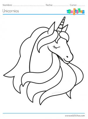 dibujo de cabeza de un unicornio