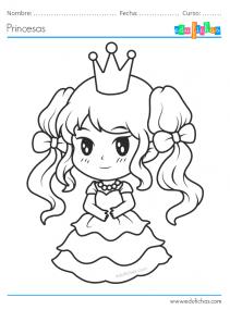 dibujos de princesas kawaii