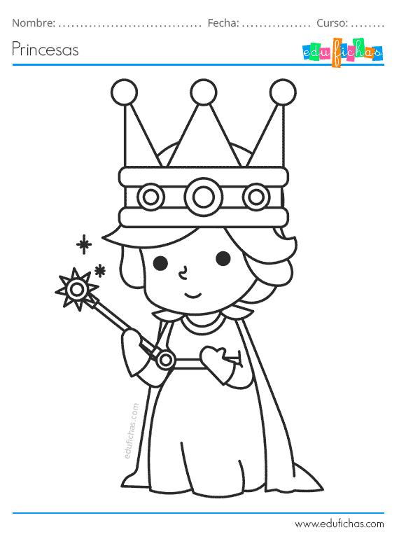 Dibujos De Princesas Para Colorear Cuadernos Para Ninos