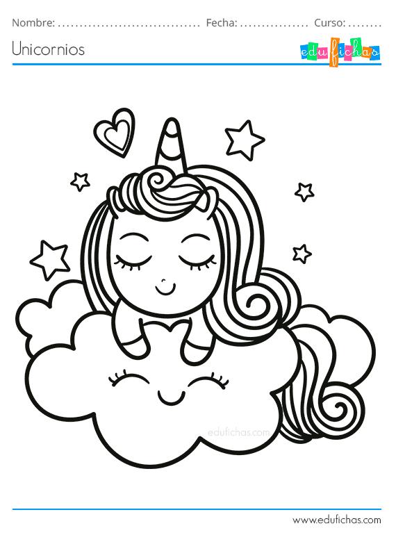 Dibujos para Colorear de Unicornios. Descargar libro para ...