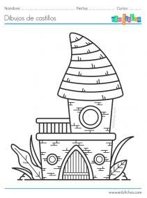 dibujos para pintar de castillos