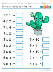 ejercicios de multiplicar con dibujos