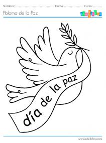dia de la paz para pintar