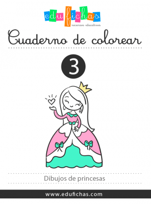 libro para colorear de princesas