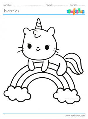 pintar gato unicornio