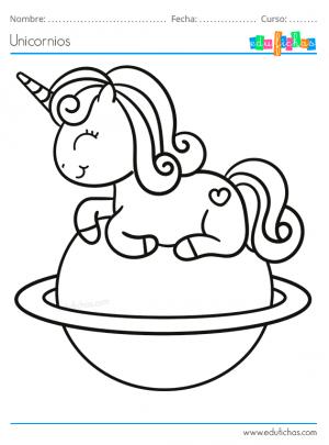 pintar unicornio kawaii