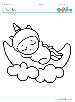 pintar unicornios bebes