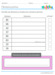 primaria numeros primos