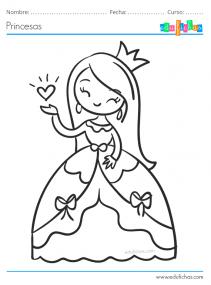 princesas bonitas para pintar