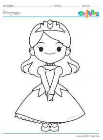 princesas colorear