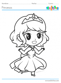 princesas kawaii para pintar