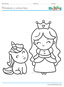 princesa y unicornio bebe