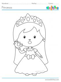princesitas para pintar