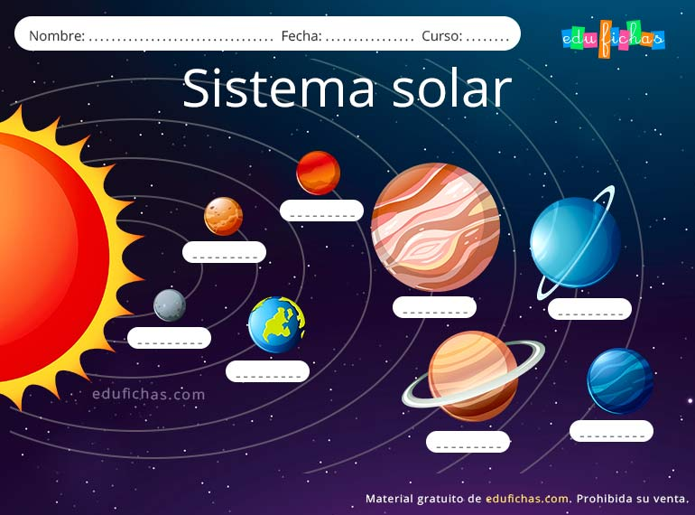 Sistema Solar Para Niños Material Gratis Para Aprender Los Planetas