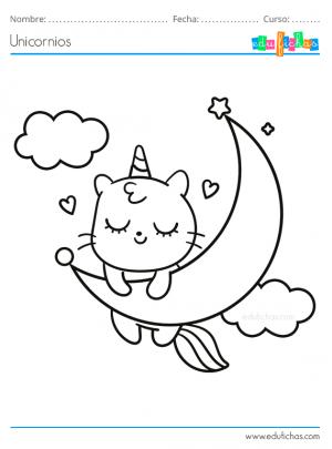 gatito unicornio bebé
