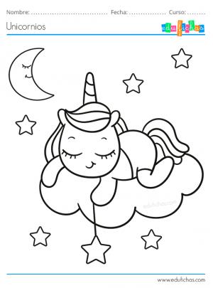 unicornio bebe durmiendo
