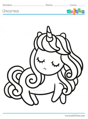 unicornio bonito para pintar
