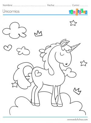 unicornio para imprimir
