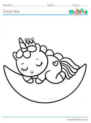 unicornios bebes para pintar
