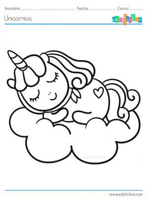 unicornios colorear para niños