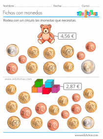 actividades con monedas de euros para niños