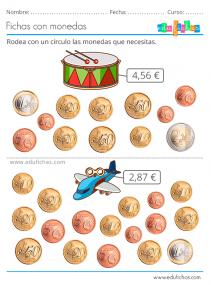 actividades con monedas para niños