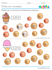 actividades con monedas de euros