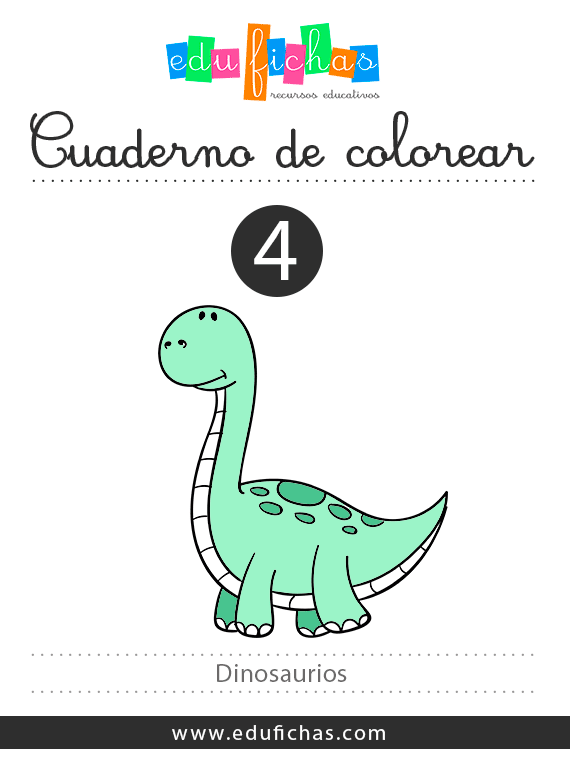 cuaderno de dinosaurios para colorear