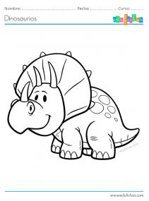 dibujo dinosaurio