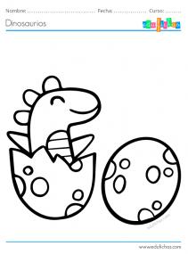 dibujos de dinosaurios bebes