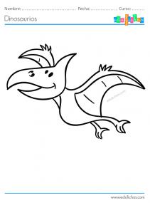 dinosaurio volador para pintar