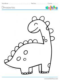 dinosaurios colorear gratis