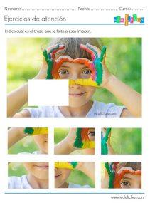 ejercicio de atencion para niños