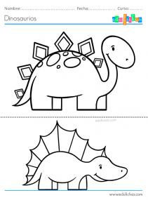imprimir dinosaurios para colorear