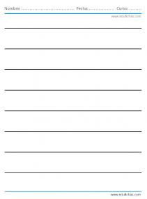 líneas para escribir