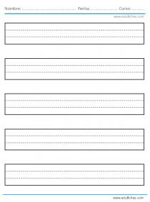 plantillas para escribir en folio