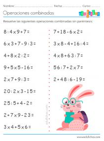 operaciones combinadas con parentesis y multiplicaciones
