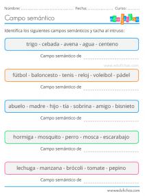 campo semántico ejemplos