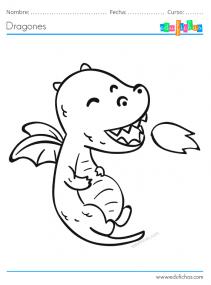 descargar dragón para imprimir