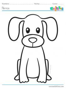 dibujo de perro colorear
