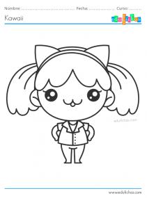 dibujos de chicas kawaii