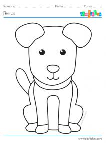 dibujos de perros para imprimir