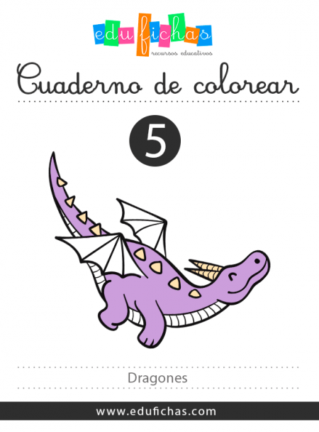 dibujos dragones pdf