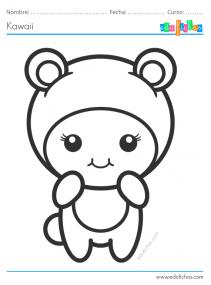 dibujos kawaii para colorear gratis