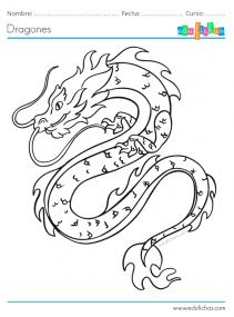 dragón chino para colorear