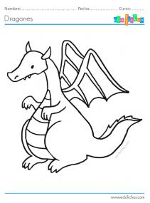 dragones para imprimir gratis
