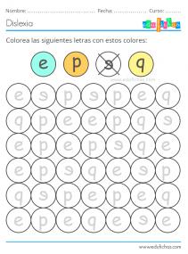 ejercicios para niños con letras