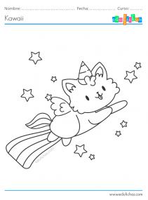 gato unicornio kawaii