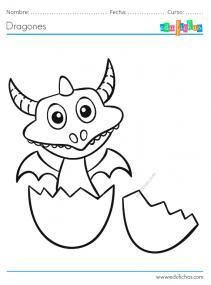 huevo de dragon para colorear