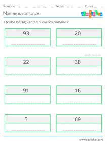 imprimir numeros romanos